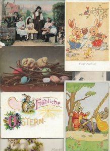Happy Easter Vintage Postcard Lot of 38 01.16