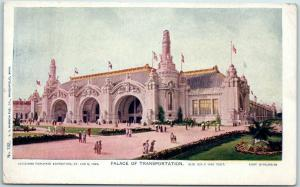 1904 St. Louis World's Fair Postcard PALACE OF TRANSPORTATION Hammon Unused