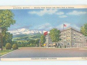 Linen HOTEL SCENE Colorado Springs Colorado CO AE1615