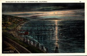 California Moonlight On The Pacific At Summerland