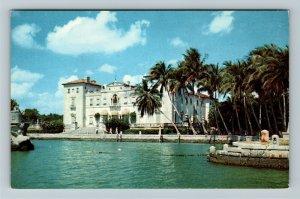 Miami FL- Florida, Dade County Art Museum, Biscayne Bay, Chrome Postcard