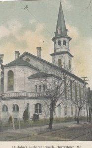 HAGERSTOWN , Maryland , 1900-10s ; St. John's Lutheran Church