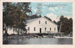 Carrier's Pavilion, Lake Pocotopaug, E. Hampton, CT., Postcard, Used in 1925