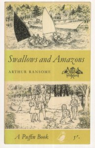 Swallows & Amazons Arthur Ransome Puffin 1962 Book Postcard