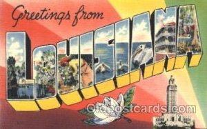 Louisiana, USA Large Letter State Unused