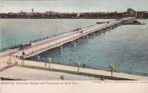 Massachusetts Boston Harvard Bridge and Panorama Of Back Bay