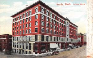 Seattle Washington~Colman Block~Northwest Trust~Safe Deposit Co~Wagons~1907 PCK