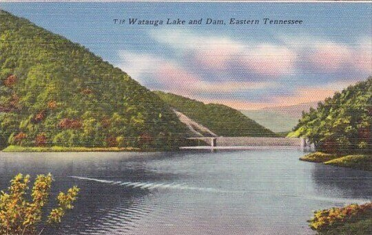 Watauga Lake And Dam Eastern Tennessee