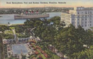 Bermuda Hamilton Hotel Bermudiana Pool & Sunken Gardens Curteich