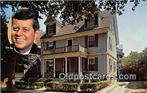 Brookline, Mass, USA Postcard Kennedy Birthplace