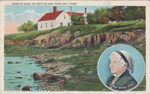 Maine Casco Bay Home Of Pearl Of Orr's Island 1936
