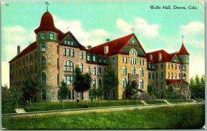 1910s DENVER, Colorado Postcard WOLFE HALL Girls' Boarding School - Unused