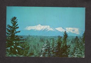 ME Eastern Slope Mt Mount Katahdin Baxter State Park MAINE Postcard Snow Covered