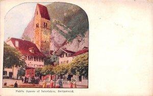 Public Square of Interlaken Switzerland Unused