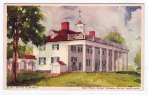 Antique 1934 East Front Facing the Potomac George Washington Mount Vernon VA