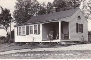 Maine Belfast Colonial Gables Cottage No 2 Real Photo