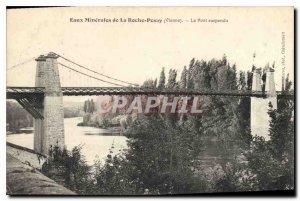 Eaux Minerales Old Postcard Roche Pesay Vienna suspension bridge