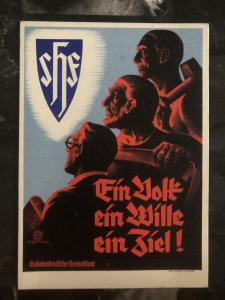 Mint WW2 Germany propaganda Postcard The Sudeten German Party Third Reich