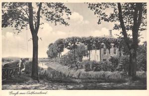 Gruss aus Ostfriesland Bruecke Bridge River Promenade
