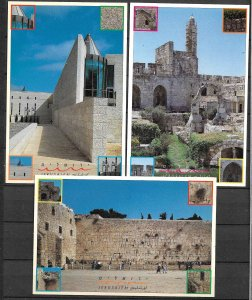 ISRAEL STAMPS. SET COMPLETE OF POSTCARDS TOURISM. CITIES PART 5. 1995