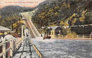 New Zealand Wellington The Water Chute Day's Bay postcard