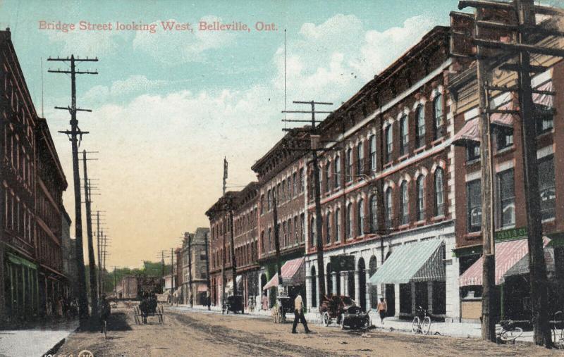BELLEVILLE , Ontario , Canada , 1900-10s ; Bridge Street , Looking West