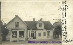sweden, Unknown Town, Shop with Tea Room, Svensson & Österberg (1910s) RPPC
