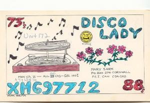 QSL Disco Lady Record Pl Cornwall Prince Edward Island