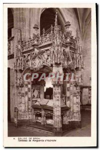 Postcard Ancient Church of Brou Tomb of Margaret of Austria