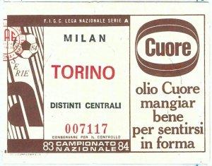 69676  - Vecchio  BIGLIETTO PARTITA CALCIO - 1983 / 1984 : MILAN / TORINO