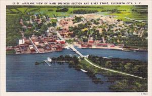 Airplane View Of Main Business Section And River Front Elizabeth City North C...