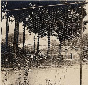 Tennis Court 1917-1930 RPPC Sports People Buildings Old AZO Real Photo Postcard
