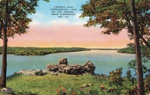 Postcard Lover's Leap Overlooking Lake of the Ozarks Missouri