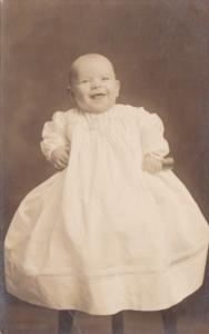 Baby Posing Harry Ardon Grenawalt 4 Months Old Aprill 1911 Old Real Photo