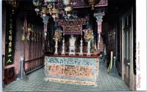 CHICAGO, Illinois  Il    Interior View  CHINESE JOSS HOUSE  ca 1910s  Postcard