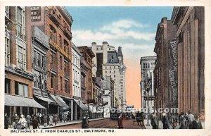 Baltimore Street in Baltimore, Maryland