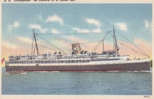 STEAMERS; 1930-1940's; S.S. Evangeline On Eastern S.S. Lines, Inc.