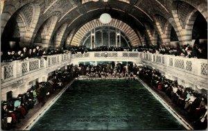 Postcard PA Pittsburgh Interior of Natatorium Manufacturers Building 1911 M5