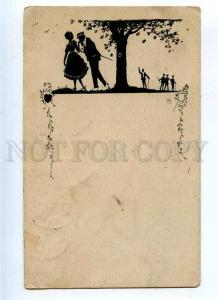 215911 ART NOUVEAU Lovers Garden by HB Vintage SILHOUETTE PC