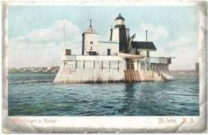Beacon Light In Harbor, St. John, New Brunswick, Canada, 1900-1910s