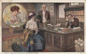 The BELL TELEPHONE Announces Unexpected Guests, 1900-10s; Man calls Wife