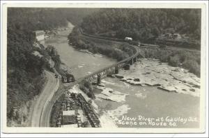 WV - New River at Gauley Jct.   RPPC