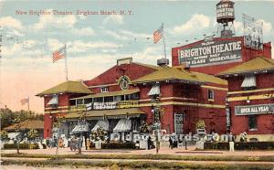 Amusement Park Postcard Post Card New Brighton Theatre Brighton Beach, New Yo...
