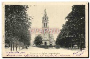 Postcard Neuilly Old St. Peter's Church