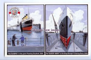 LS1091 - White Star Line Liner - Olympic - artist - modern postcard