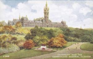 Scotland Glasgow University & The Cameronians Memorial