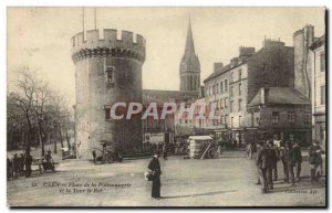 Caen - Fishmonger Square and Tower King - Old Postcard