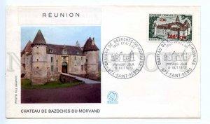 d418383 REUNION 1973 year Chteau de Bazoches du Morvand First Day COVER