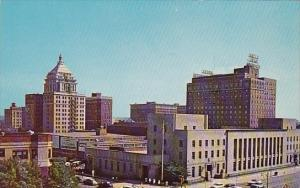 Illinois Peoria Interesting Sky Line Study Of Business District In Downtown P...