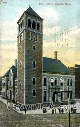 Post Office Lowell MA 1910